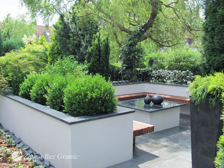 Nowoczesny ogród przydomowy.