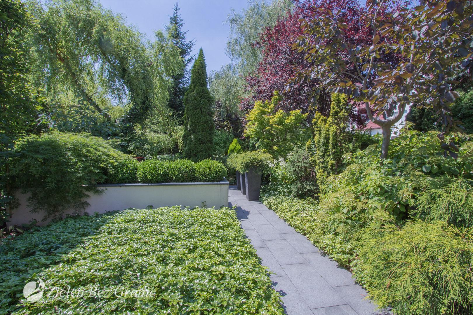 Nowoczesny ogród miejski.