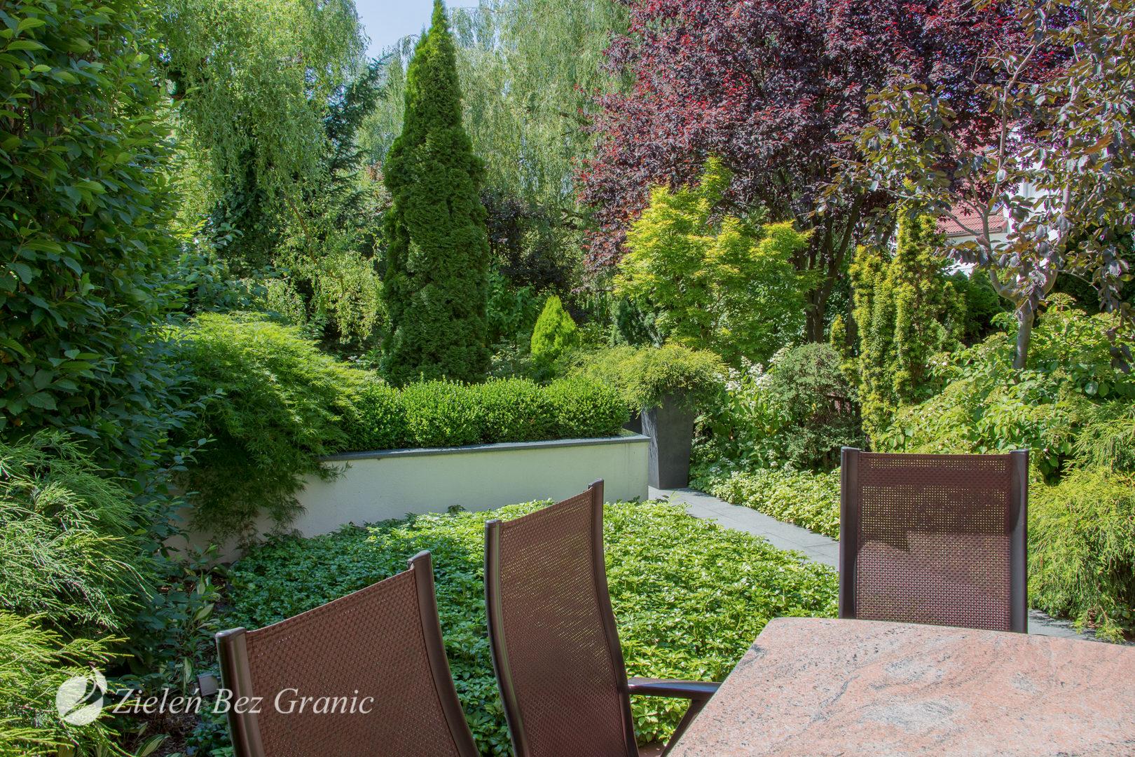 Maksymalny udział zieleni w ogrodzie.