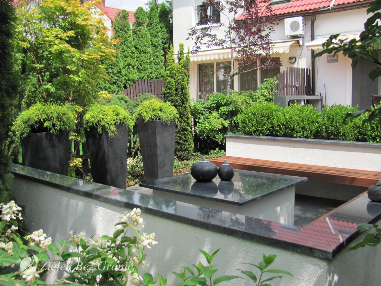 Nowoczesny, elegancki ogród przydomowy.