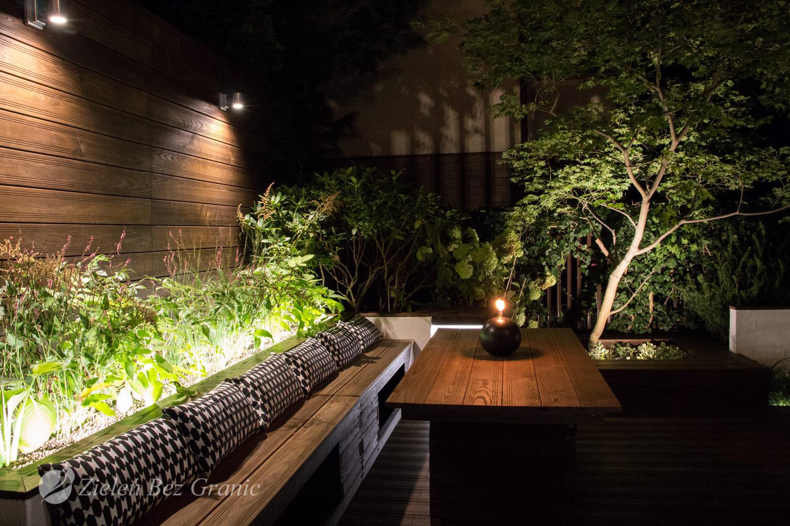 Odpowiednio skomponowane oświetlenie ogrodu