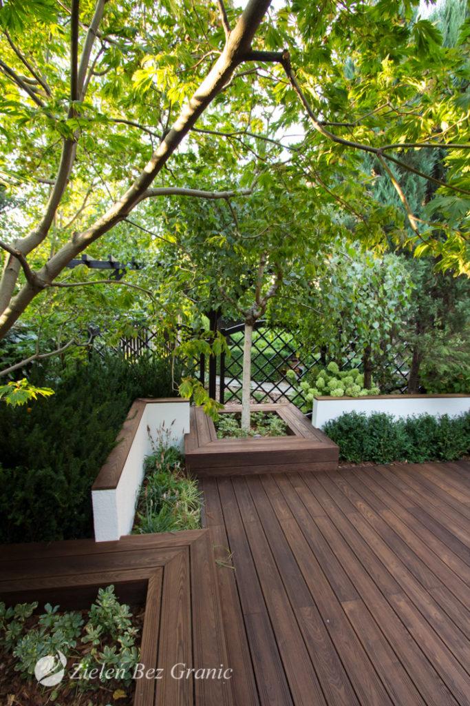 Nowoczesny, minimalistyczny ogród.