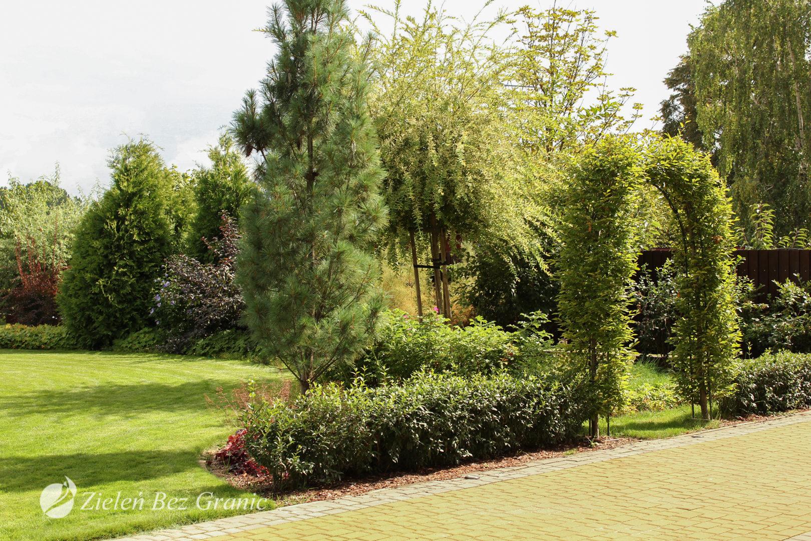 Ogród w stylu klasycznym.