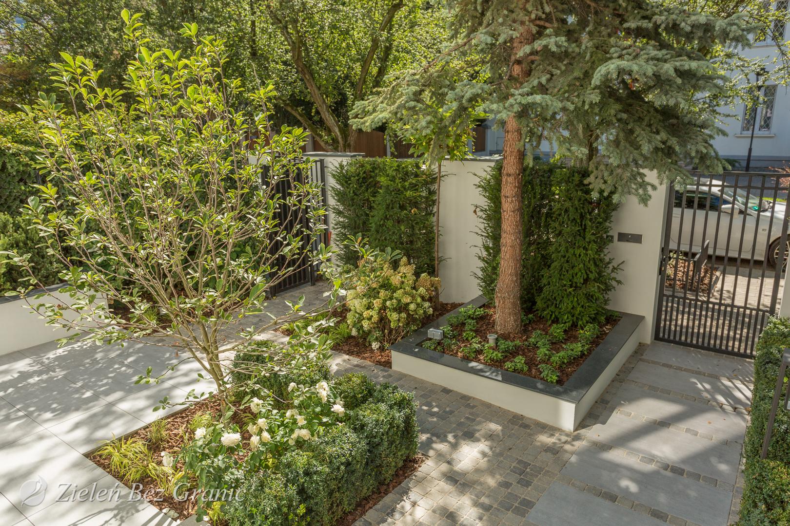 Niewielki ogródek przydomowy